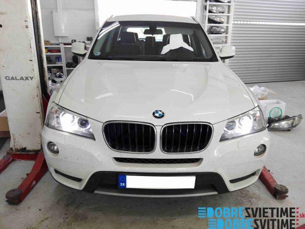 BMW X3 - repas halogen svetiel